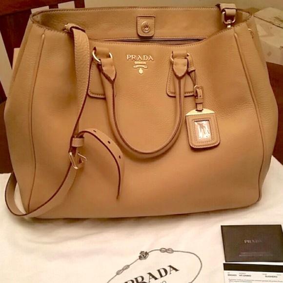 1fd493999615 Prada Bags | Vitello Daino Tote Crossbody Bag | Poshmark